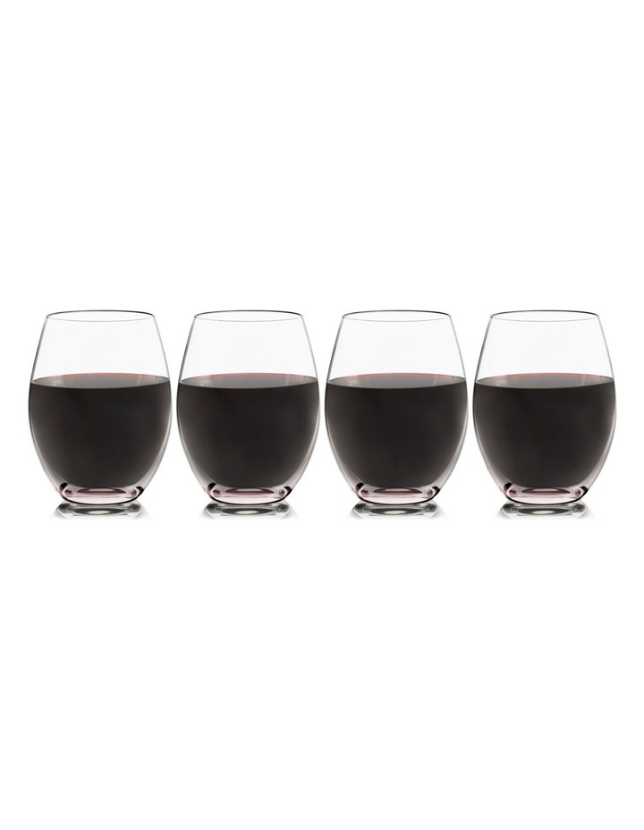 Red  (stemless) set of 4 image 1
