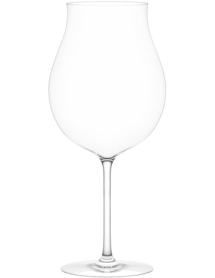 Vintage Red B Wine Glass Set of 2 image 1