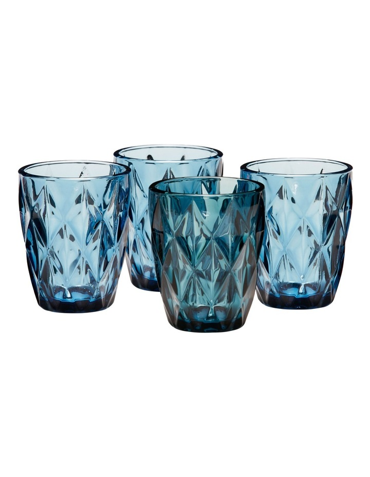 Camden Embossed Tumbler Set of 4 260ml - Indigo image 2