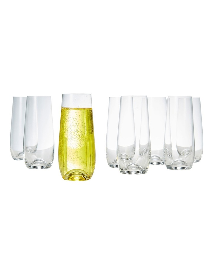 Polo Stemless Champagne Flutes  Set of 8 image 1