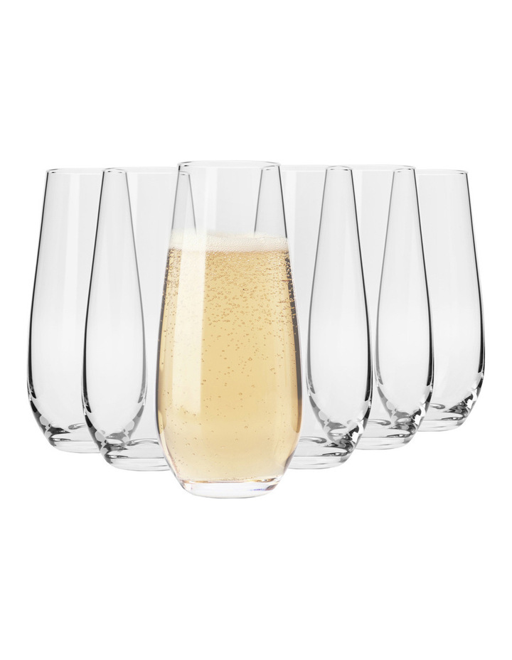 Vinoteca Stemless Flute (230ML) Set Of 6 - Gift Boxed image 1