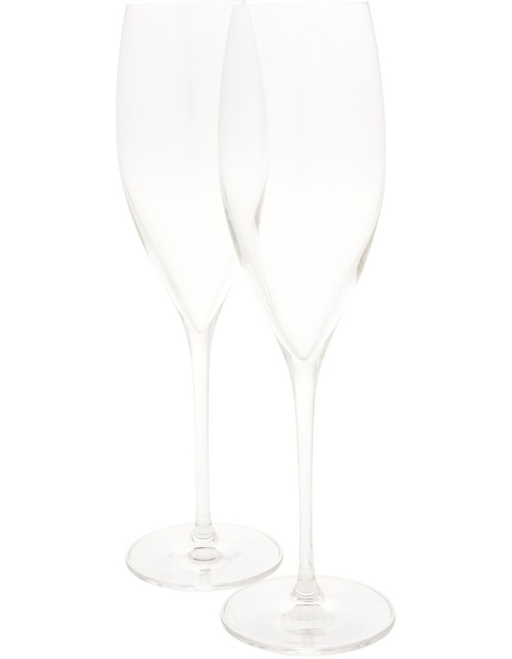 Crystal Hand Made Champagne Glasses Set of 2 image 1