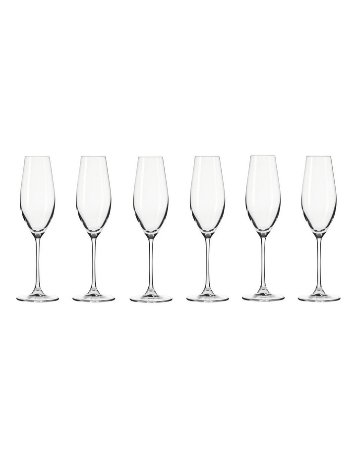 Splendour Champagne Flute 210ML 6pc Gift Boxed image 1