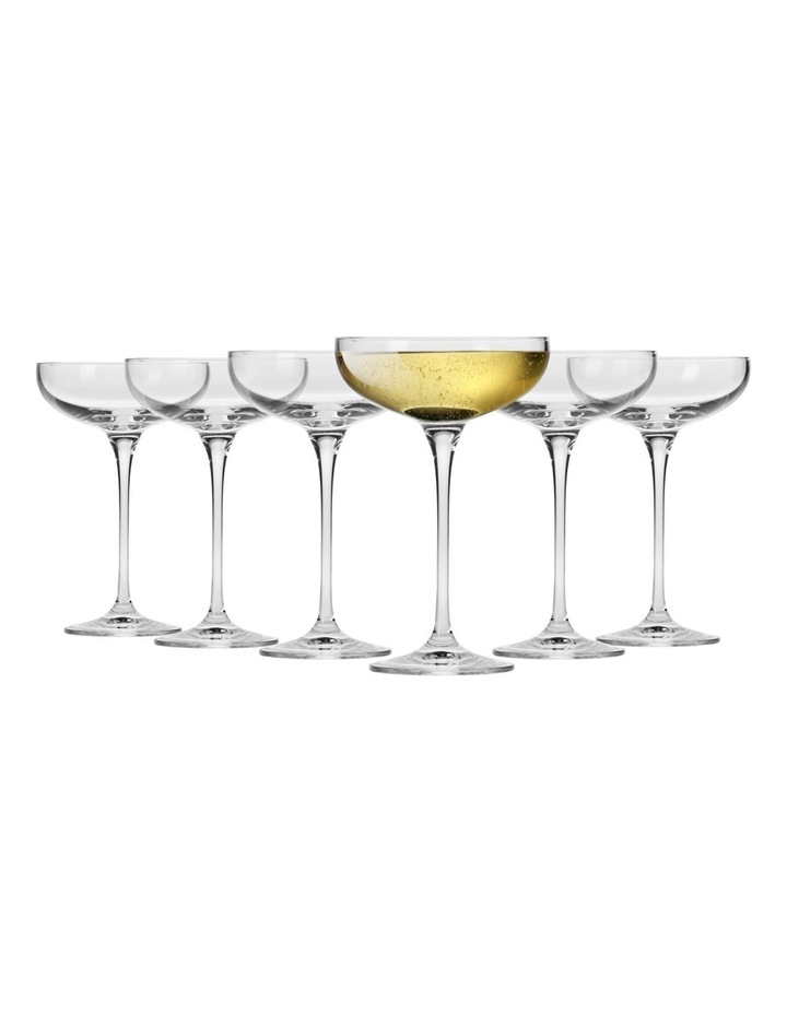 Vinoteca Champagne Cocktail Saucer 250ML Set of 6 Gift Boxed image 1