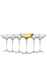 Krosno - Vinoteca Champagne Cocktail Saucer 250ML Set of 6 Gift Boxed