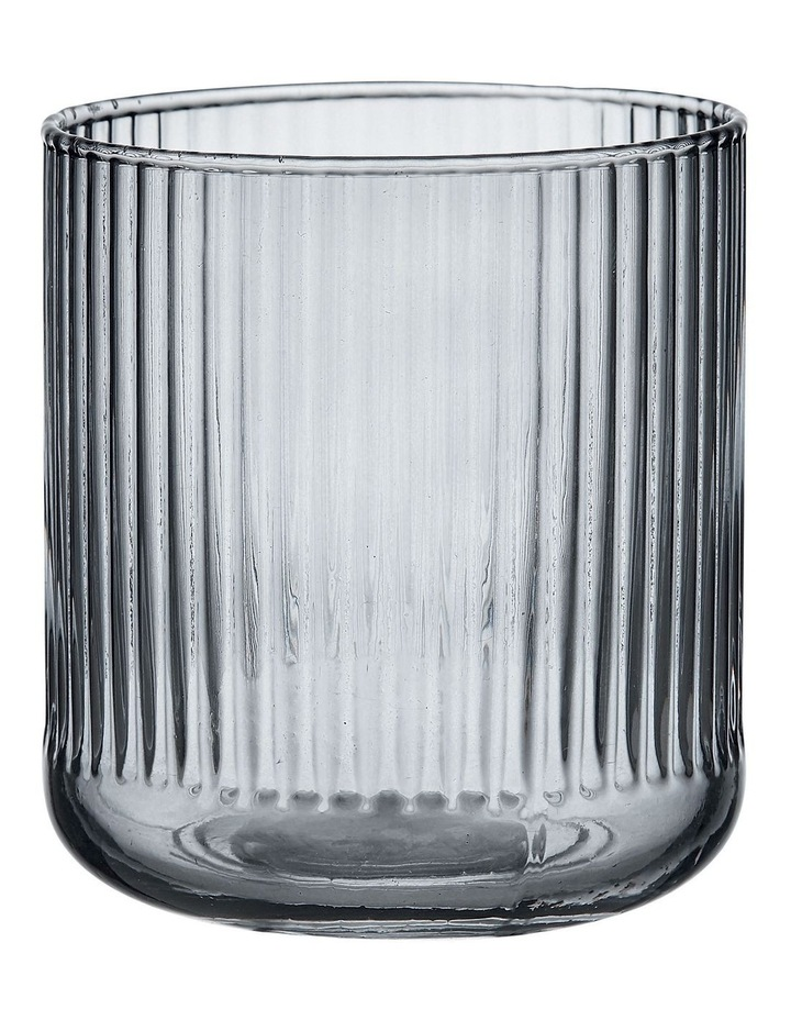 Zephyr Ribbed Charcoal Glass Tumbler image 1