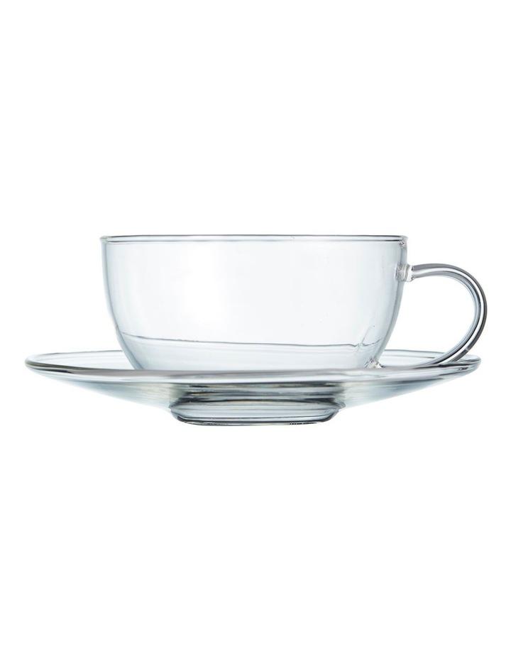 Brew Glass Teacup & Saucer 260ml image 1