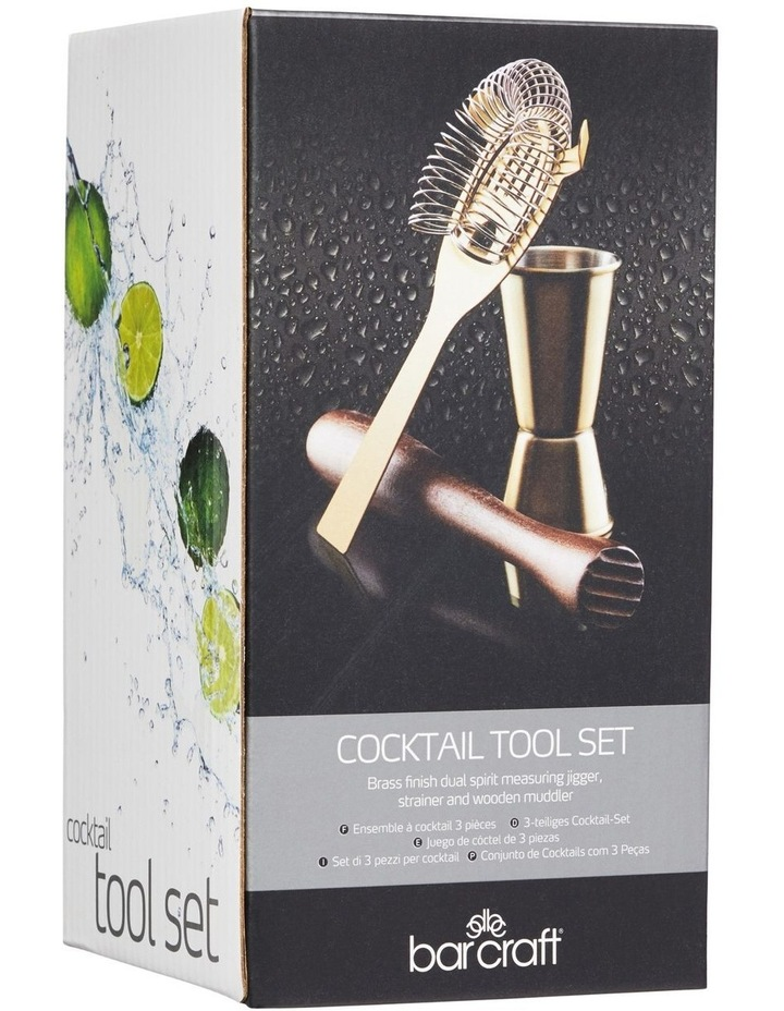 Cocktail Tool Set 3pc Brass Gift Boxed image 2