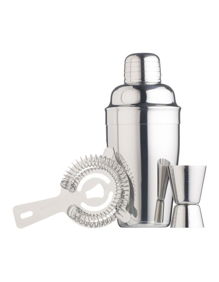 Cocktail Kit 3pc Stainless Steel Gift Boxed image 1