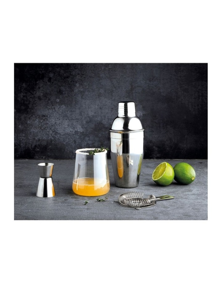 Cocktail Kit 3pc Stainless Steel Gift Boxed image 3