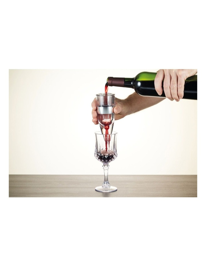 Gift Boxed Wine Aerator in Silver image 2