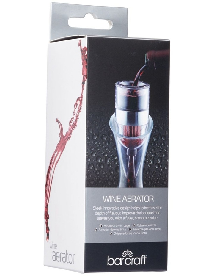 Gift Boxed Wine Aerator in Silver image 3