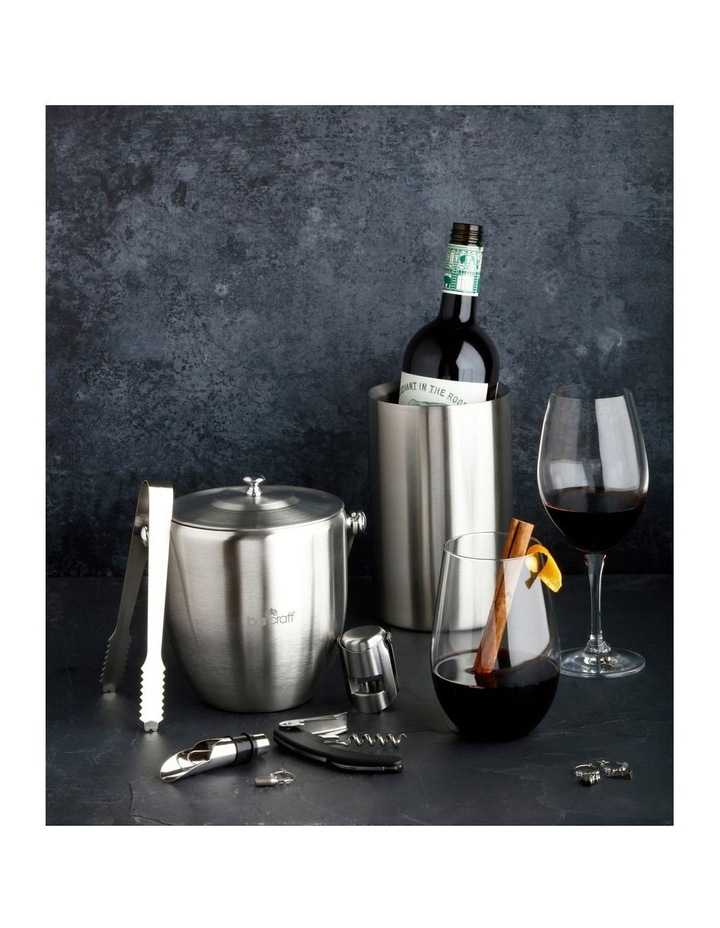 Ice Bucket with Lid & Tongs Stainless Steel Gift Boxed image 3