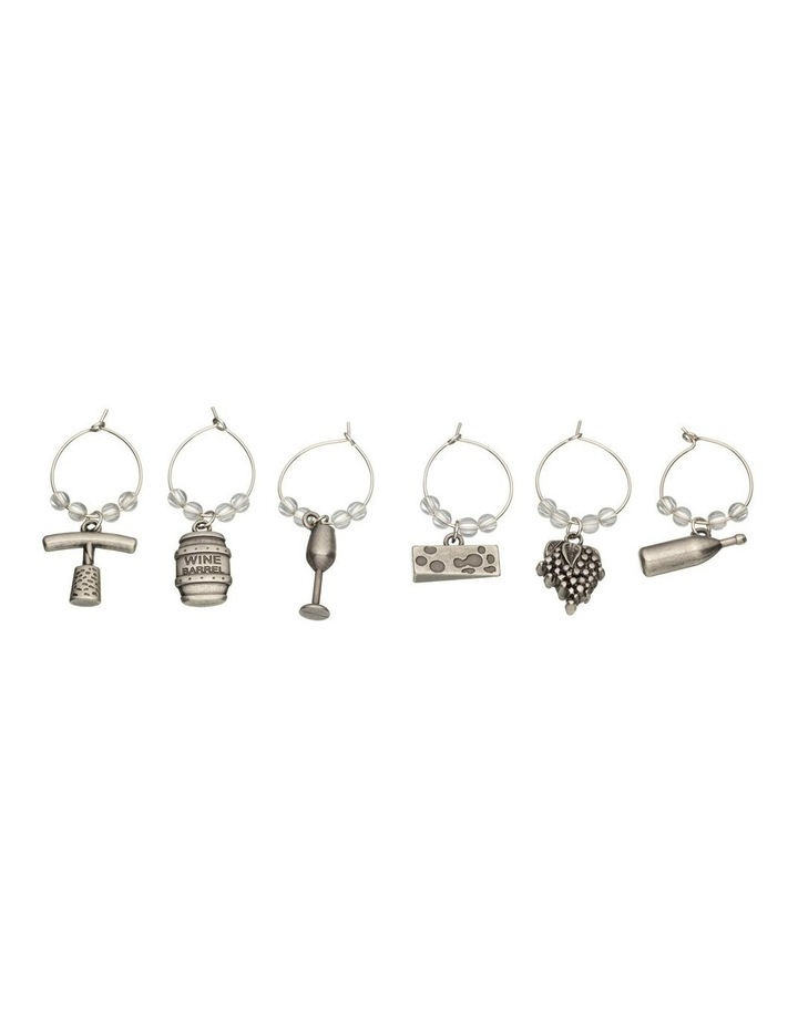 Wine Charms 6pc Set Gift Boxed image 1