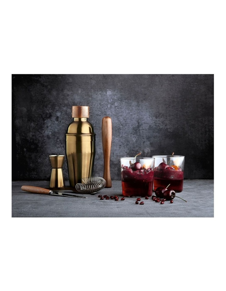 Cocktail Set 6pc Brass Gift Boxed image 3