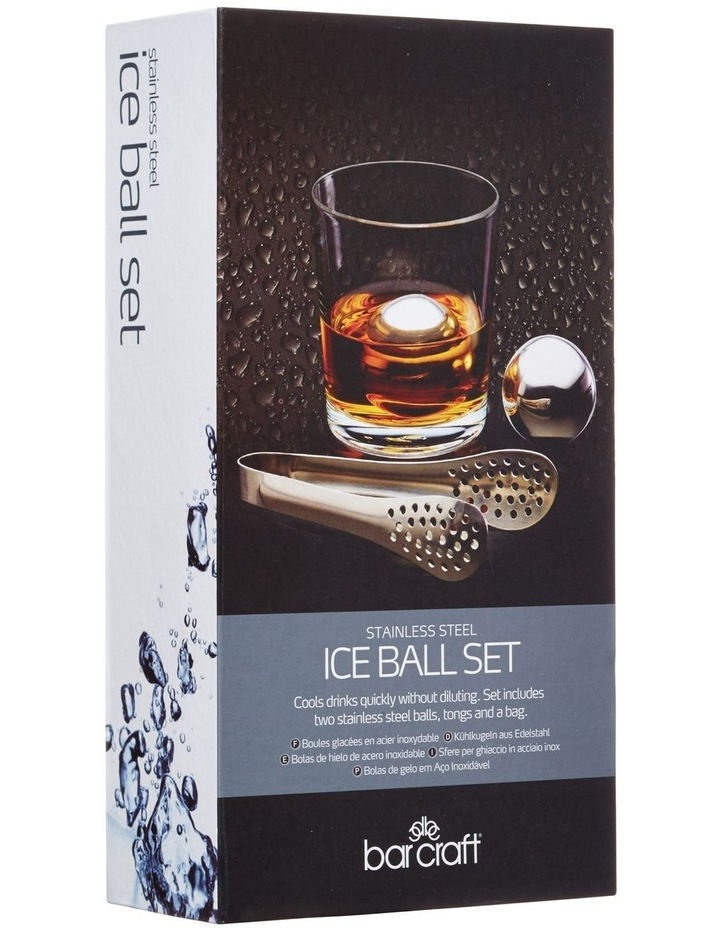 Ice Ball Set 3pc Stainless Steel Gift Boxed image 2