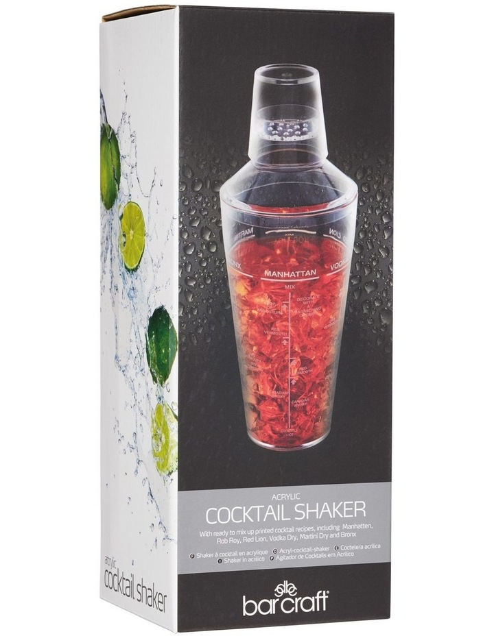 Cocktail Shaker 700ML Acrylic Gift Boxed image 2