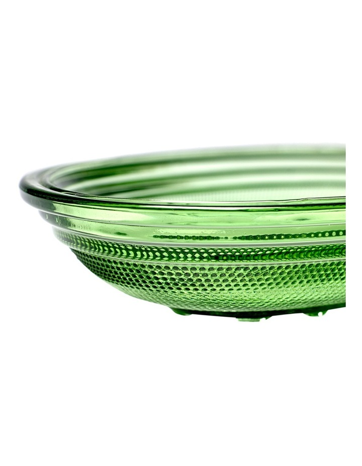 Fish & Fish Collection - Glass Oval Dish - Deep - Transparent Green image 2
