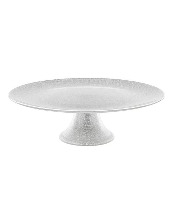 Glitter Footed Cake Stand Silver image 1