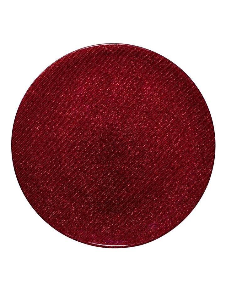 Glitter Cake Plate Red 33 cm image 1