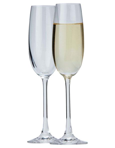'Salut' Champagne Flute Set of 6 image 1