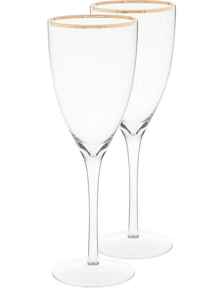 Gold Rim Wine Glass  Set of 4 image 1