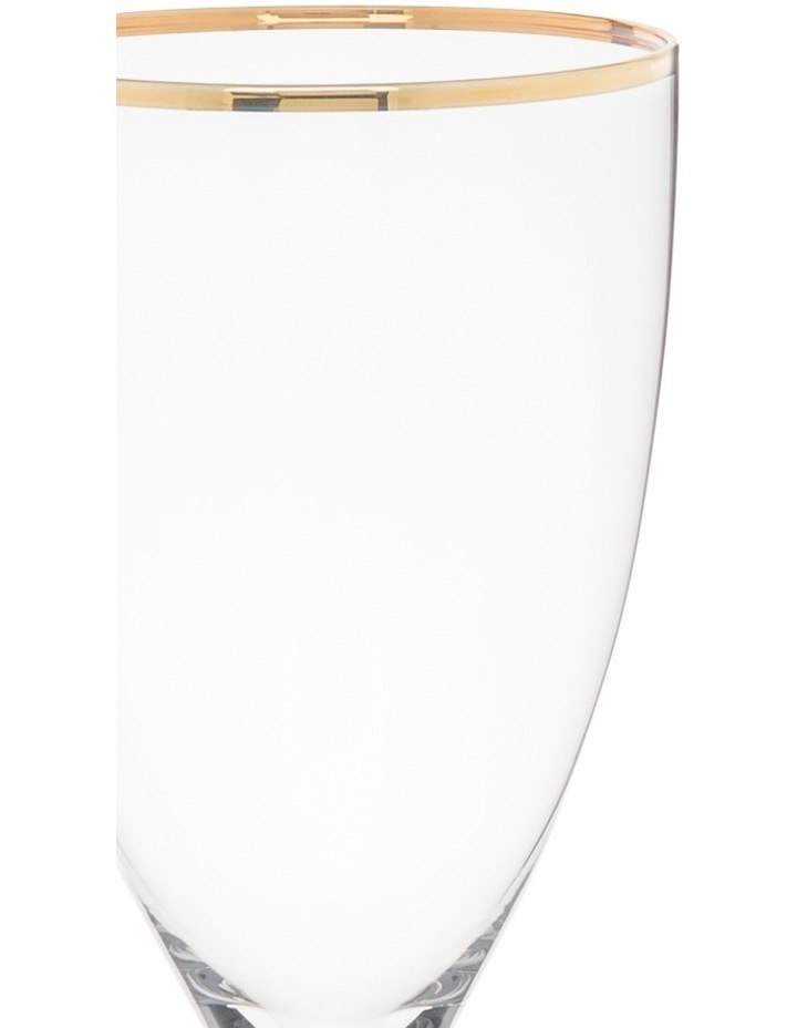 Gold Rim Wine Glass  Set of 4 image 2