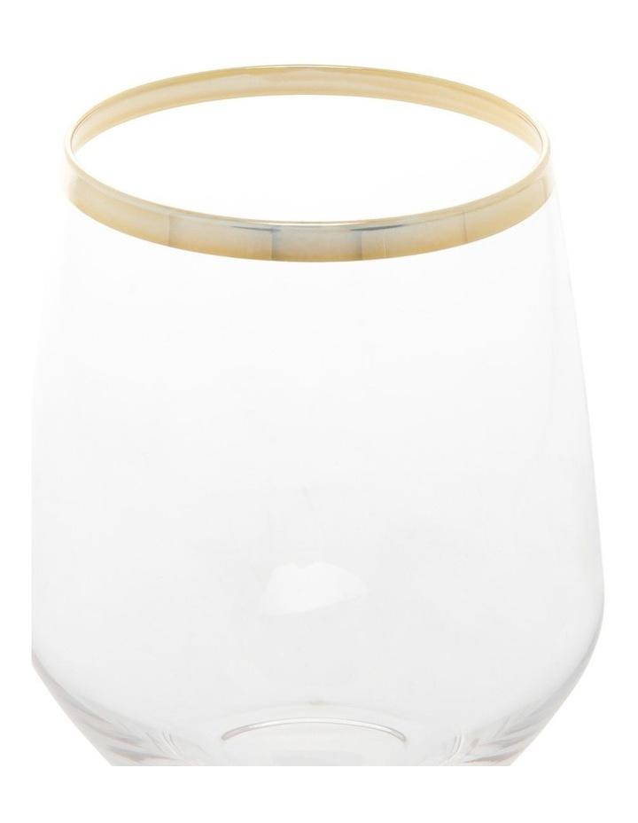 Gold Celebration Stemless Wine Glass Set of 4 image 2