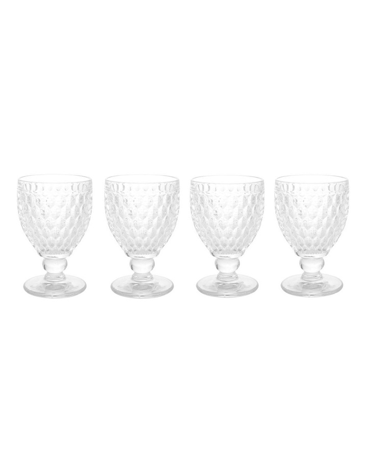 Loretta Pressed Glass Goblet Set of 4 image 1