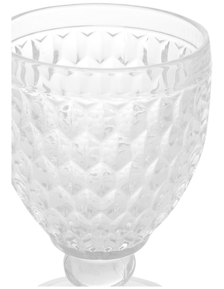 Loretta Pressed Glass Goblet Set of 4 image 2