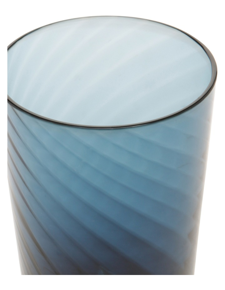 Striata Blue Ribbed Glass Hiball Set of 4 image 2
