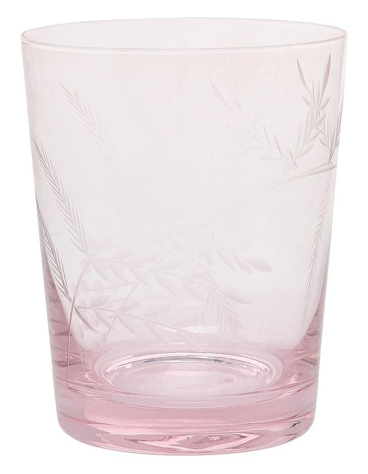 Etched Tinted Pink Tumbler set of 4 image 1