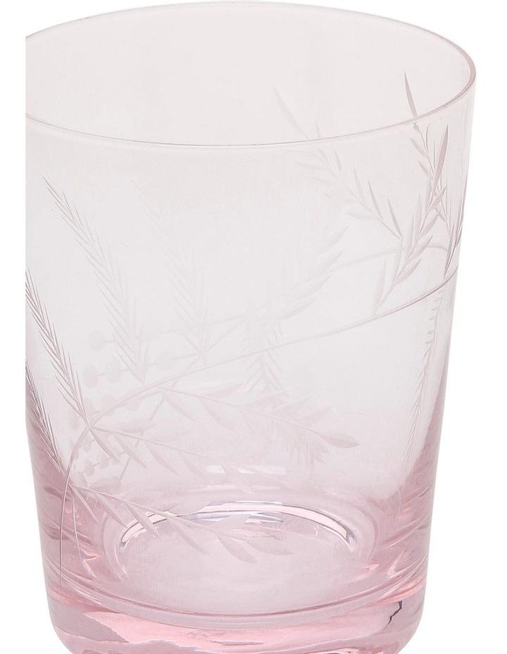 Etched Tinted Pink Tumbler set of 4 image 2