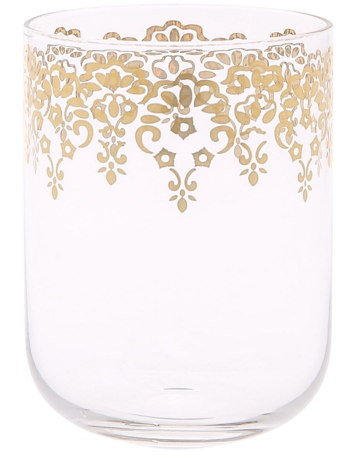 Gold Lace Decal Glass Tumbler set of 4 image 1