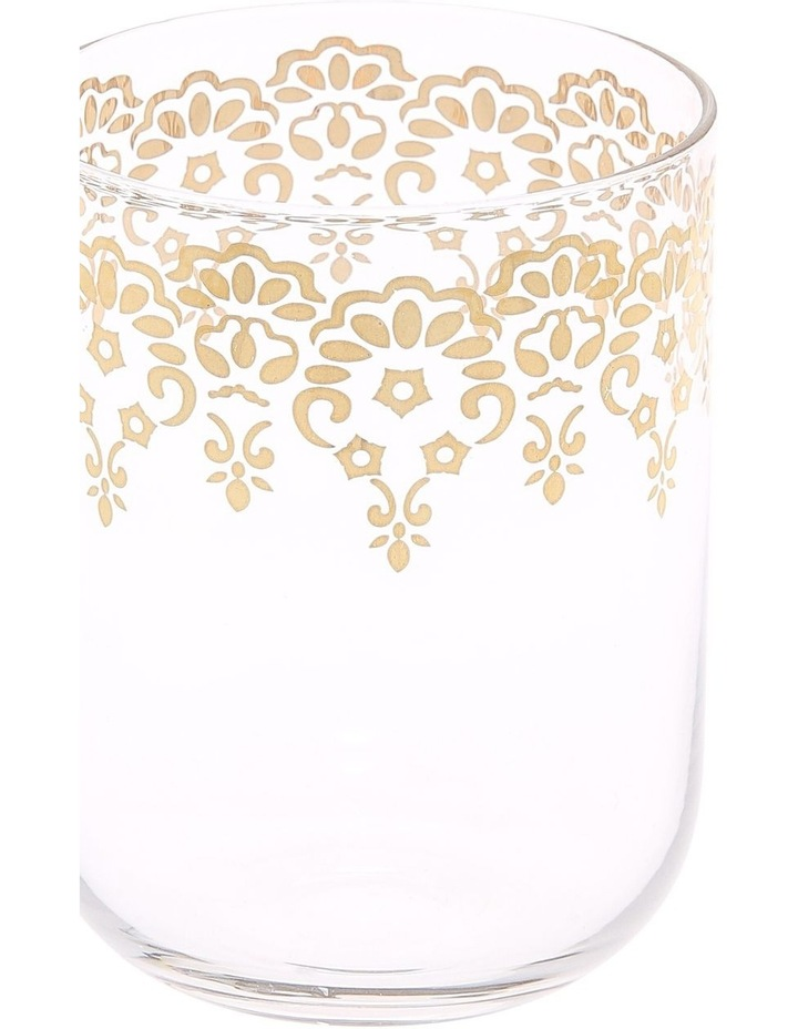 Gold Lace Decal Glass Tumbler set of 4 image 2