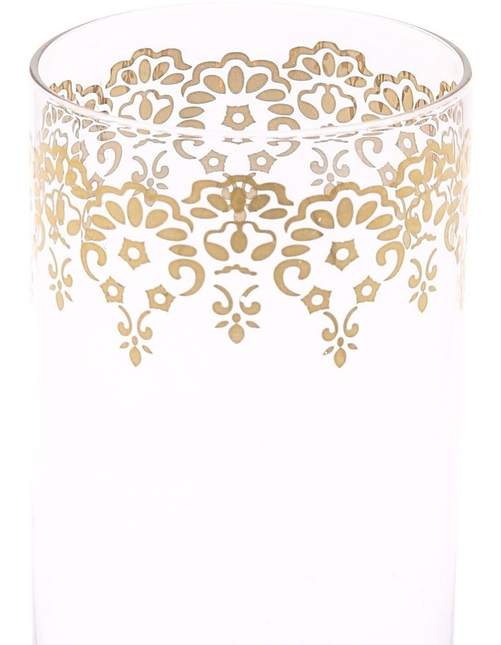 Gold Lace Decal Glass Hiball set of 4 image 2