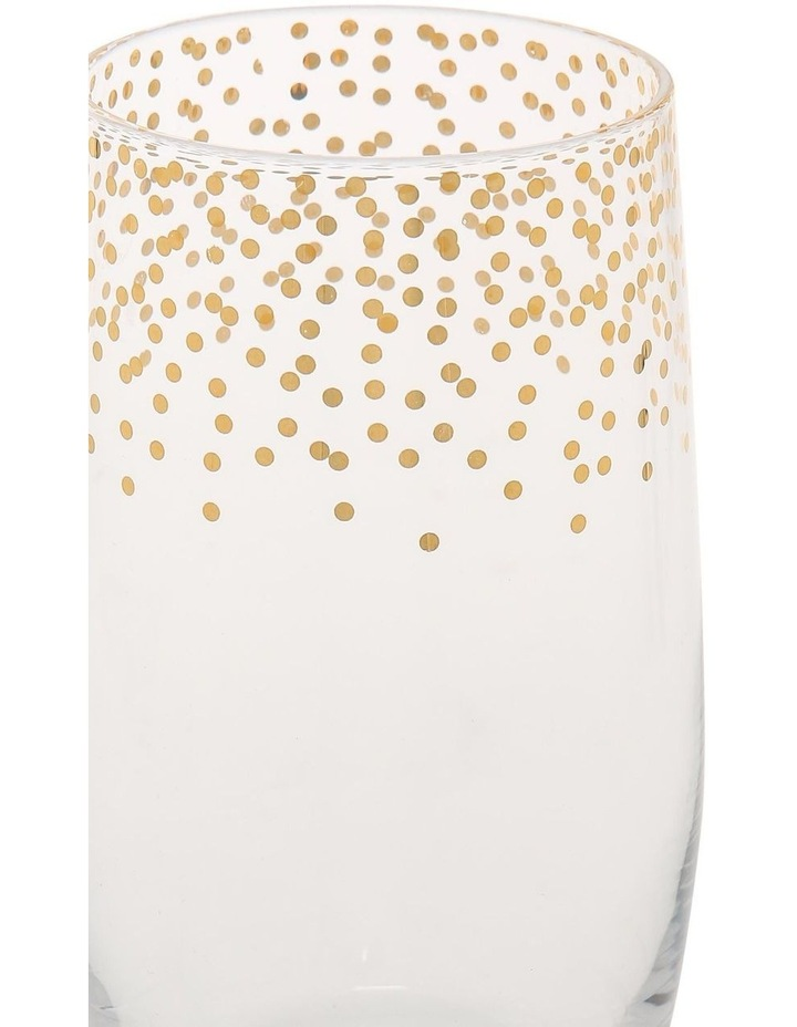 Confetti Highball Glasses Set of 4 Gold image 2