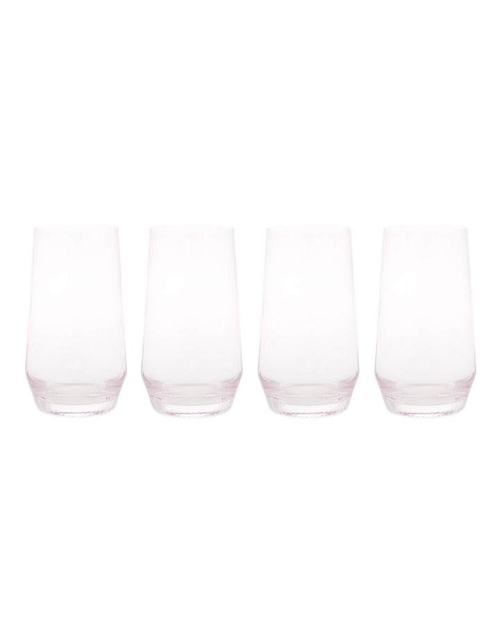 Tempe Ribbed Highball Set of 4 Pink image 1