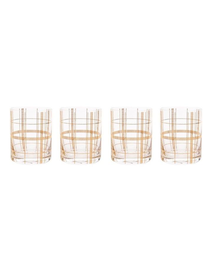 Tartan Set Of 4 Gold Dof image 2