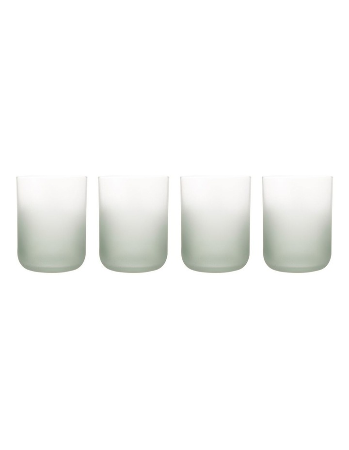 Arlo Frosted Tumbler Set of 4 Dark Green image 2