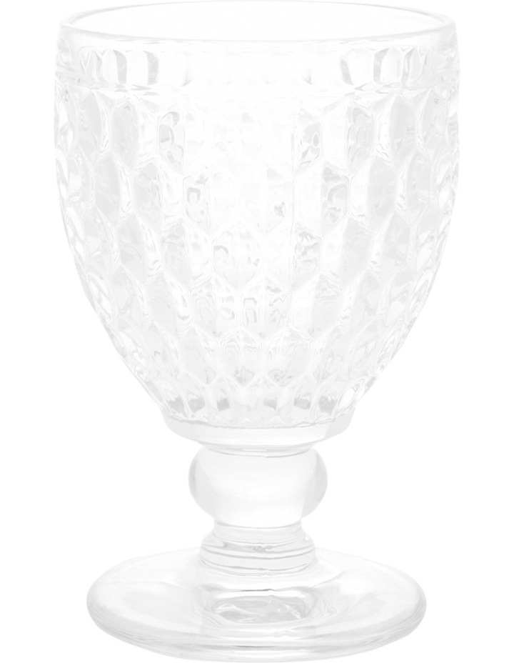 Pressed Glass Patterned Wine Goblet image 1