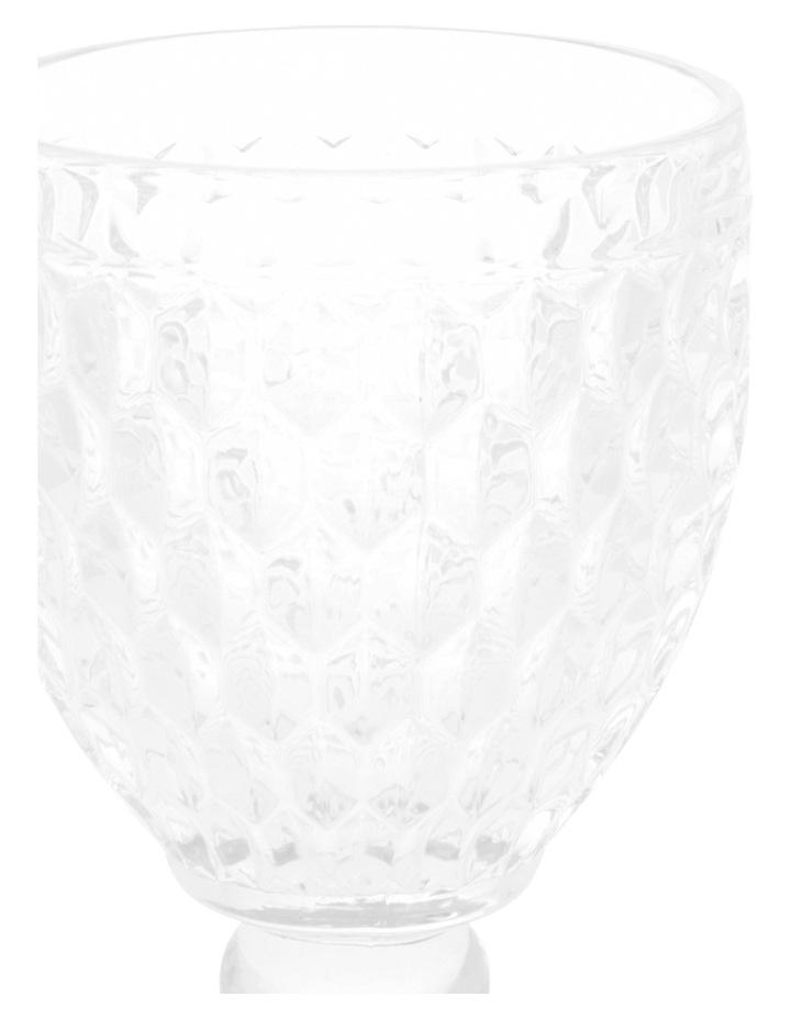 Pressed Glass Patterned Wine Goblet image 2