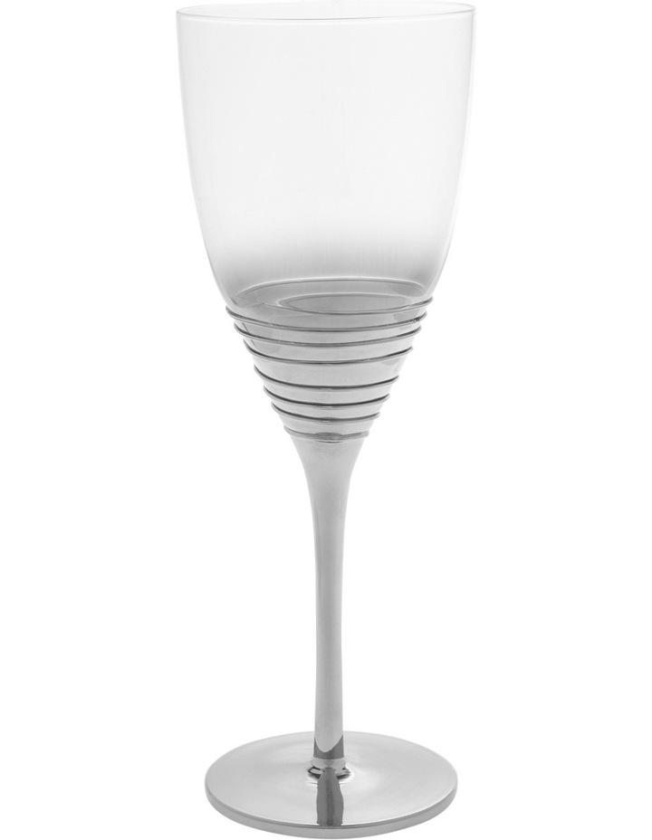 Ombre Swirl Silver Wine Glass image 1