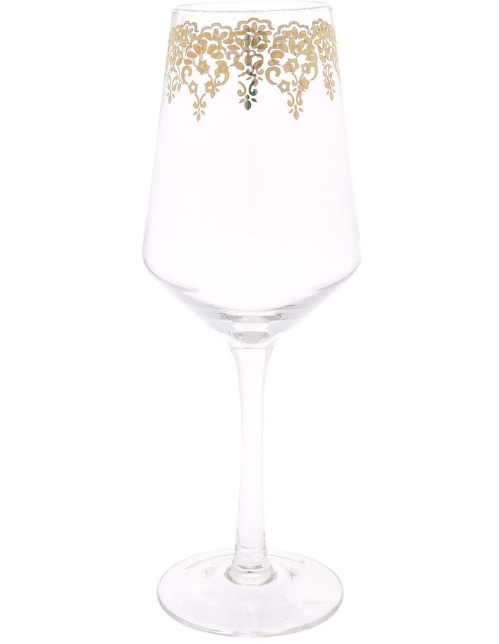 Gold Lace Wine Glass image 1