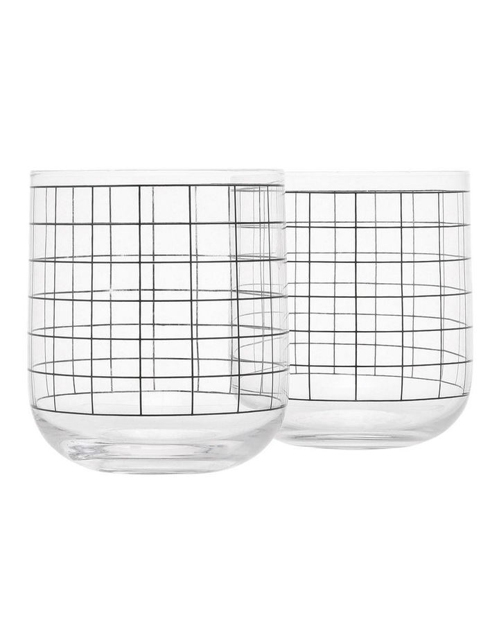 Grid Decal Round Base Tumbler image 1