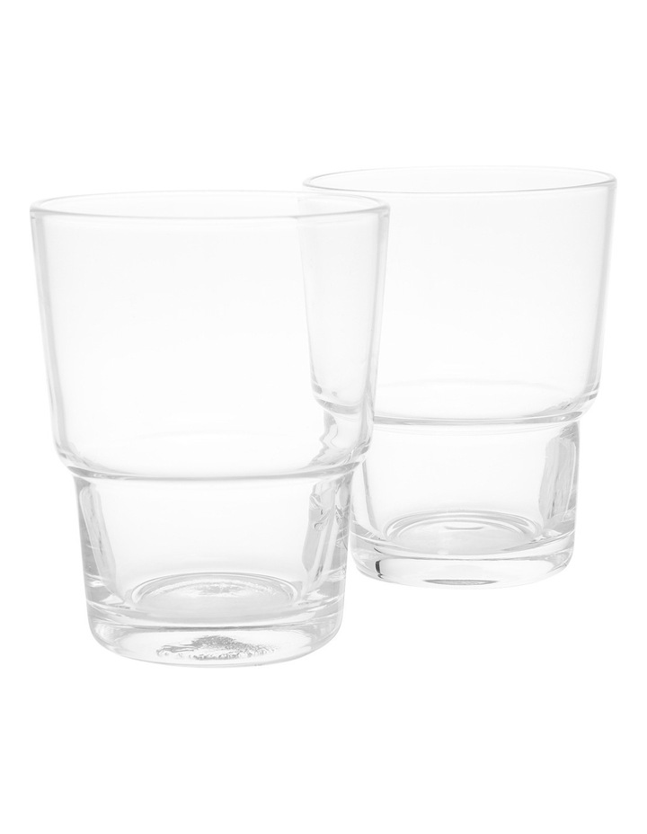 Clear Stackable 8cm Glass Tumbler image 1