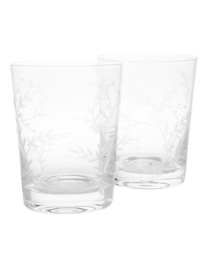 Etched 12cm Glass Tumbler image 1