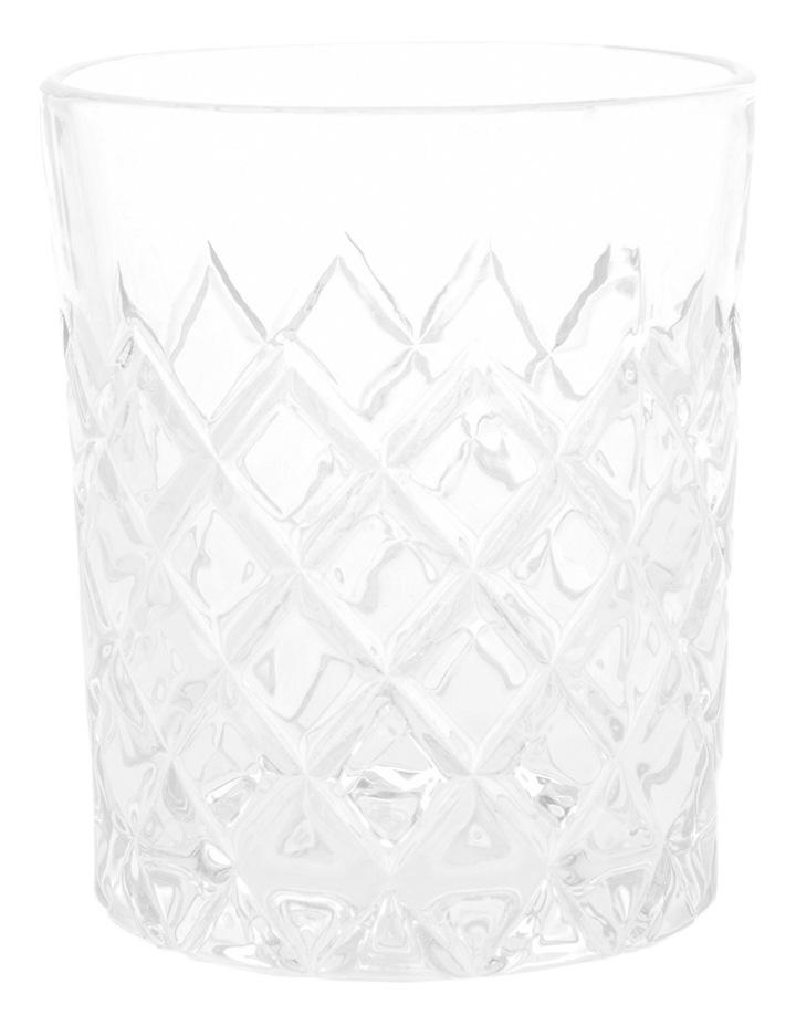 Diamond Pattern Glass Tumbler 8.3x10cm image 1
