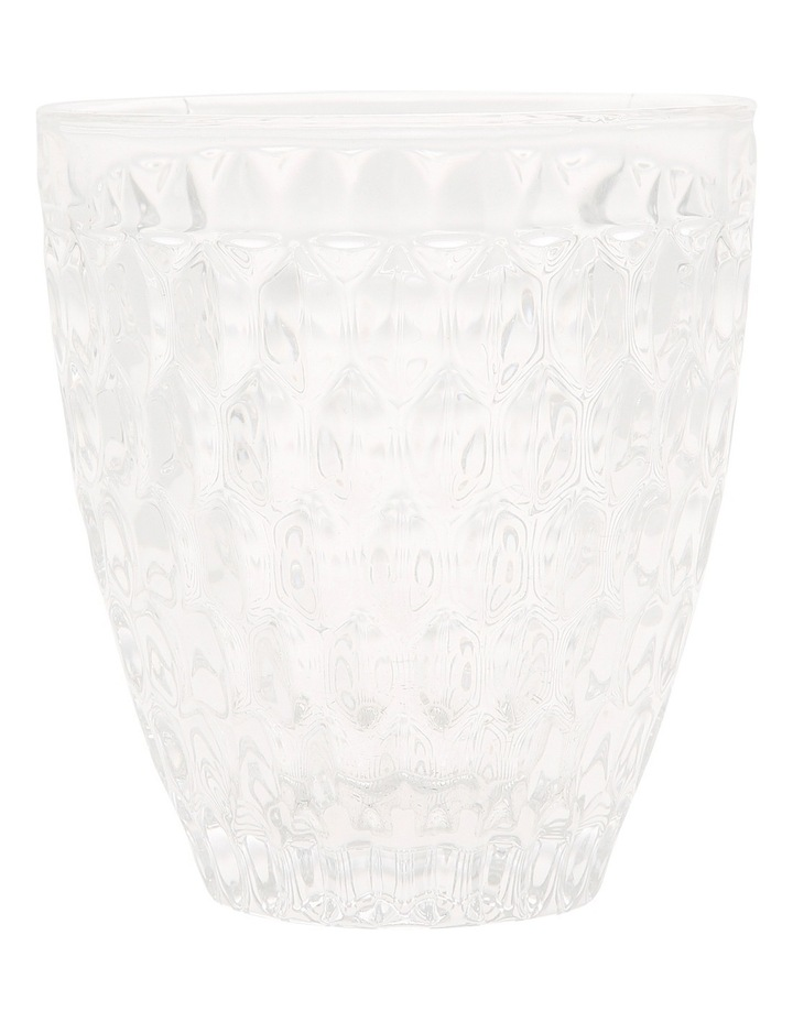 Pressed Glass Patterned Glass Tumbler 9x10cm image 1