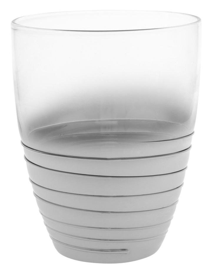 Ombre Swirl Silver Glass Tumbler 8x10cm image 1